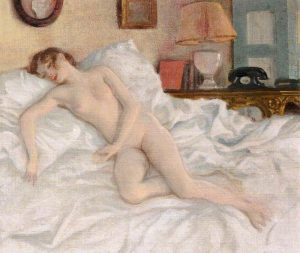 Rex Whistler - A Nude Study of Lady Caroline